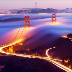 Пазл онлайн: Мост Золотые ворота
