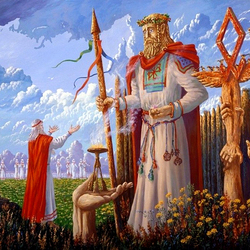 Пазл онлайн: Ведическая Русь.Святилище Бога Правосудия