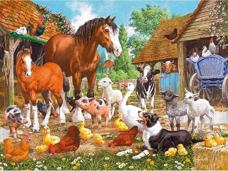 Картинка скотный двор детская