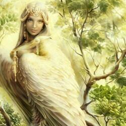 Пазл онлайн: Птица Сирин