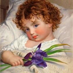 Пазл онлайн: Детский портрет