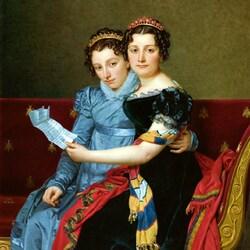 Пазл онлайн: Сестры Зинаида и Шарлотта Бонапарт
