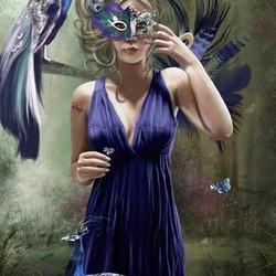 Пазл онлайн: Павлинья маска