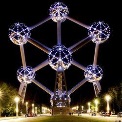 Пазл онлайн: Атомиум в Брюсселе