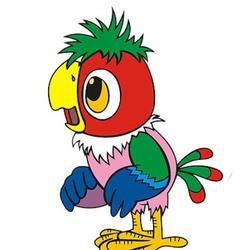 Пазл онлайн: Попугай Кеша