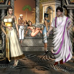 Пазл онлайн: Египетские мотивы