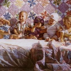 Пазл онлайн: Плачущие малыши
