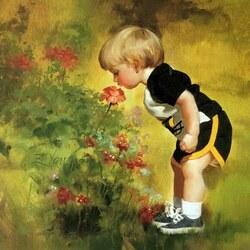 Пазл онлайн: У цветочков