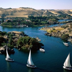 Пазл онлайн: Река Нил - дар для Египта