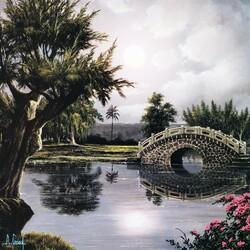 Пазл онлайн: Мост в парке