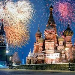 Пазл онлайн: Праздничная Москва