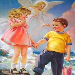 Пазл онлайн: Под крыльями ангела
