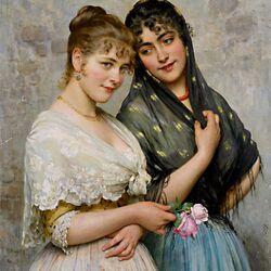 Пазл онлайн: Two Venetian Women