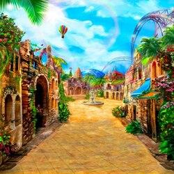 Пазл онлайн: Сказочный город