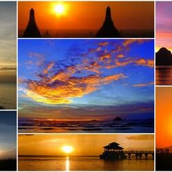 Пазл онлайн: Красивые закаты