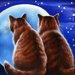 Пазл онлайн:  В лунную ночь