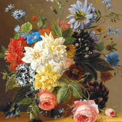 Пазл онлайн: Роскошный букет цветов