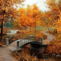 Пазл онлайн: Осень в старом парке