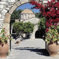 Пазл онлайн: Монастырь на Родосе, Греция