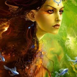Пазл онлайн: Nimue /Озёрная фея