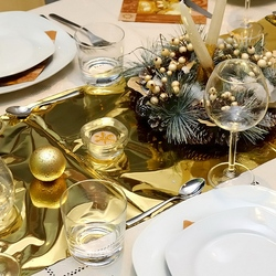Пазл онлайн: Новогодняя сервировка