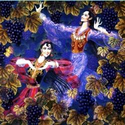 Пазл онлайн: Танец с виноградом