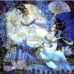 Пазл онлайн: Танец с веерами