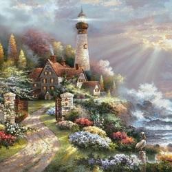 Пазл онлайн: Прибрежный маяк