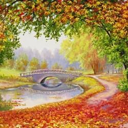Пазл онлайн: Осени краски