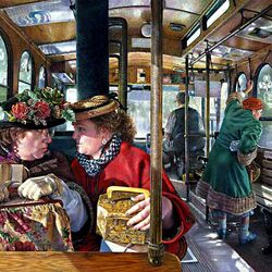 Пазл онлайн: Разговор в трамвае