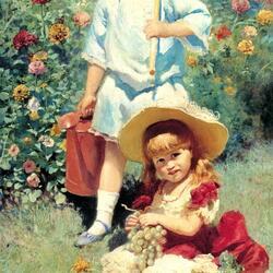 Пазл онлайн: Дети в саду
