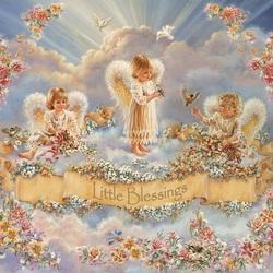 Пазл онлайн: Ангелочки Пасхи