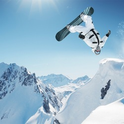 Пазл онлайн: Сальто на сноуборде