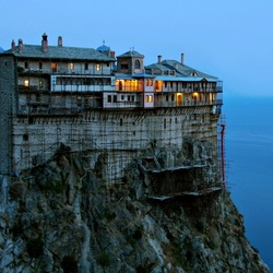 Пазл онлайн: Монастырь на горе