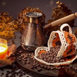Пазл онлайн: Чёрный кофе