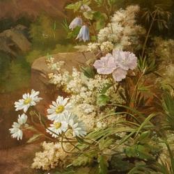 Пазл онлайн: Цветы у порога