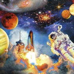 Пазл онлайн: Космонавтика