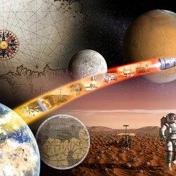 Пазл онлайн: Освоение космоса
