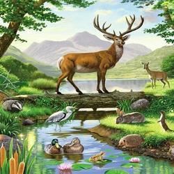 Пазл онлайн: Фауна леса