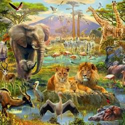 Пазл онлайн: Фауна Африки