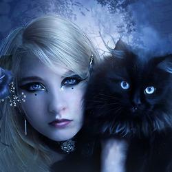Пазл онлайн: Голубая полночь