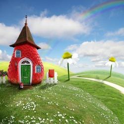 Пазл онлайн: Клубничный домик
