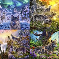 Пазл онлайн: Волчья семья