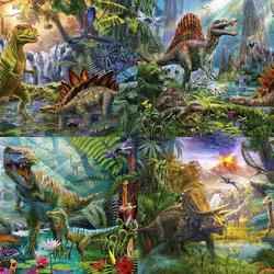 Пазл онлайн: Мир динозавров