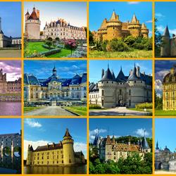 Пазл онлайн: Замки Франции