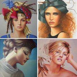 Пазл онлайн: Женские образы
