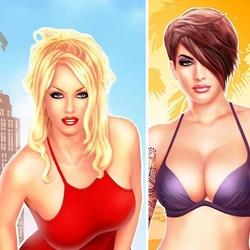 Пазл онлайн: Две красотки
