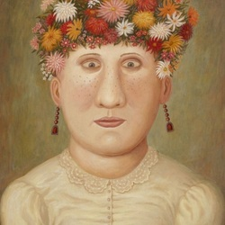 Пазл онлайн: Девушка-клумба
