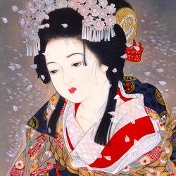 Пазл онлайн: Портрет молодой японки