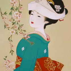Пазл онлайн: Цветущая сакура